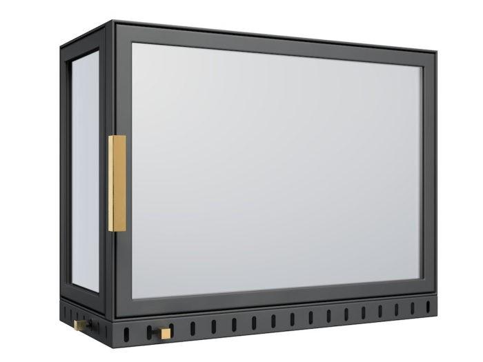 Drzwi do kominka - AF3 z boczną szybą