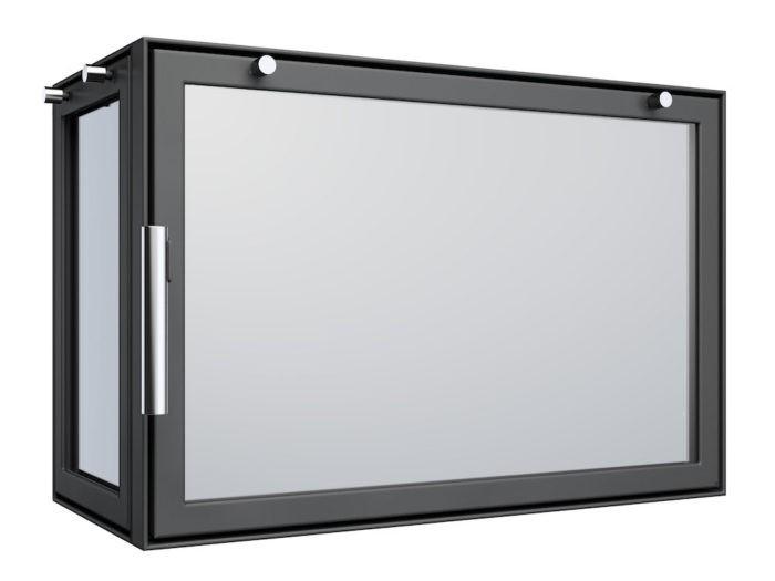 Drzwi kominkowe - AD3 z boczną szybą