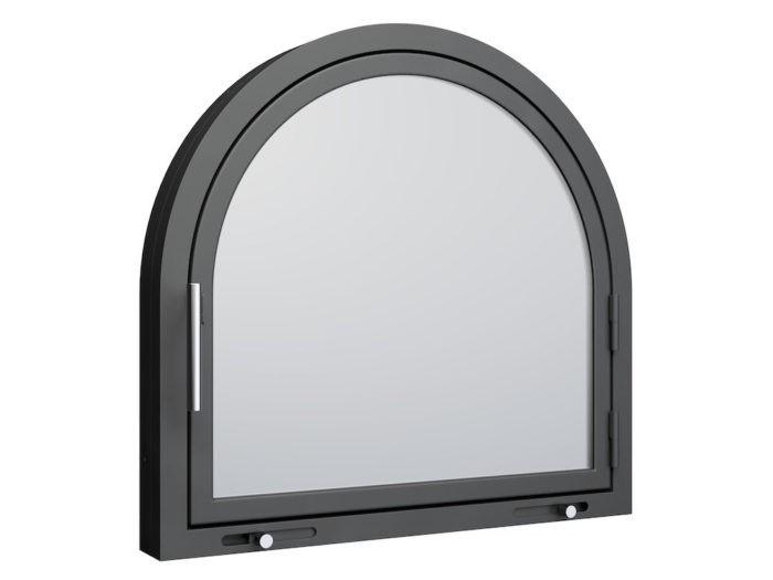 Drzwi kominkowe - AX6 półokrągłe